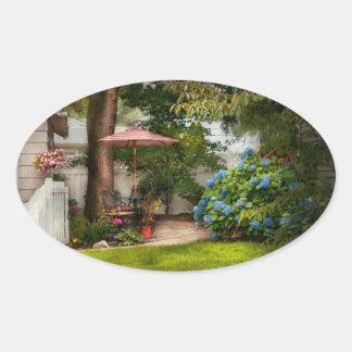 Flower - Westfield, NJ - Private paradise Oval Sticker