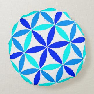Flower wheel round pillow
