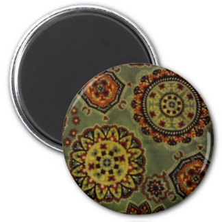 Flower wheels refrigerator magnet