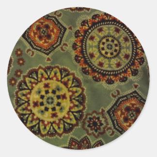 Flower wheels round sticker