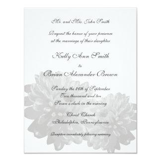 Flower (White) Small Rectangular Invitation