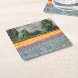 Flower Windmill Fine Art Triptych image 1 of 3 Square Paper Coaster