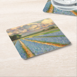 Flower Windmill Fine Art Triptych image 3 of 3 Square Paper Coaster