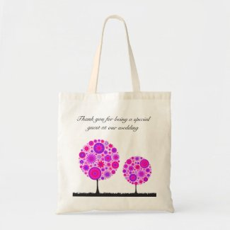 Flower Wishing Tree Purple Wedding Favour Bag bag