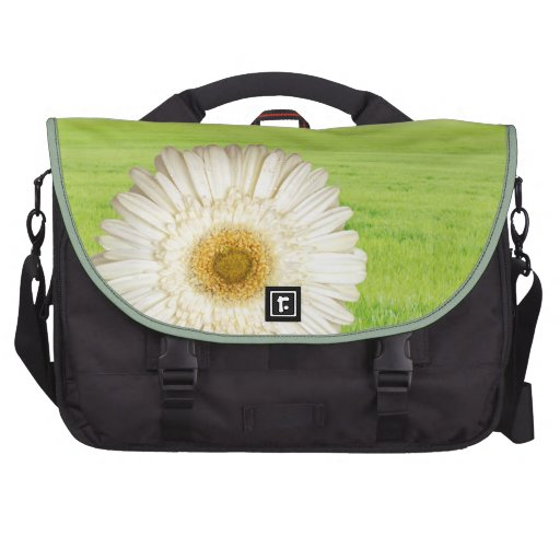 Flower with dewdrops bags for laptop
