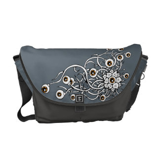 flower with eyes courier bag