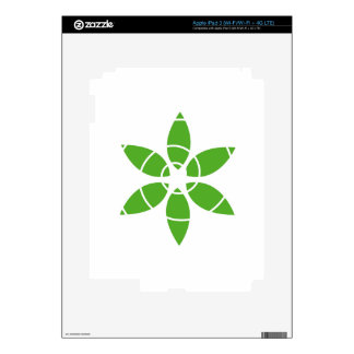 Flower with green leaves decal for iPad 3
