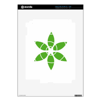Flower with green leaves decal for iPad 2