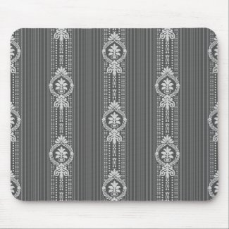 Flower with laurel wreath in grey mouse pad