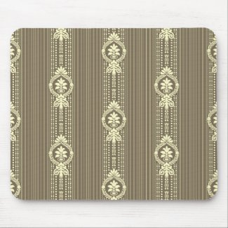 Flower with laurel wreath in sepia mouse pad