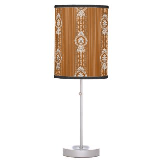 Flower with laurel wreath table lamp