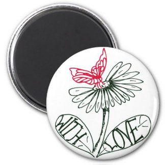 flower with love imán redondo 5 cm