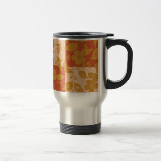 Flower with respect to chequered 15 oz stainless steel travel mug