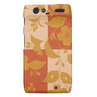 Flower with respect to chequered motorola droid RAZR covers
