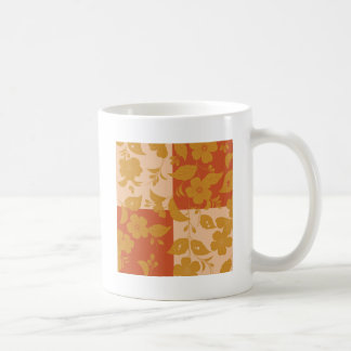 Flower with respect to chequered coffee mug