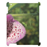 Flower with Small Green Insect. iPad Cases