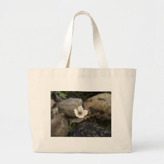 Flower with Soft Rock Background Large Tote Bag