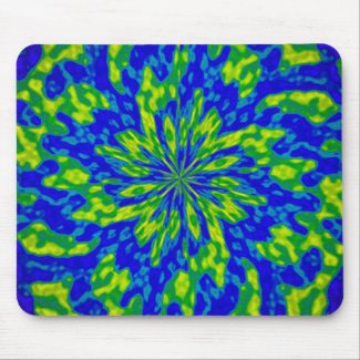 Flower with Swirls Mouse Pad