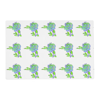 Flower with white background placemats