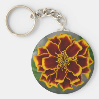 Flower with Yellow Petal Tips Keychain