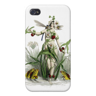 Flower Woman Dragonfly Fish IPhone Case iPhone 4 Covers