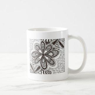 Flower words coffee mug
