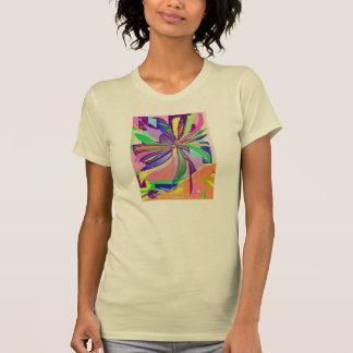 Flower Wrap Fine Jersey T-Shirt Creme Pink