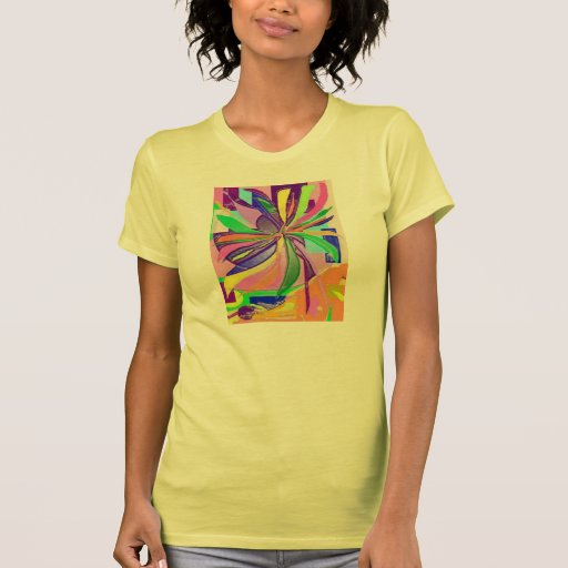 Flower wrap fine jersey t shirt yellow zazzle for Wrap style t shirts