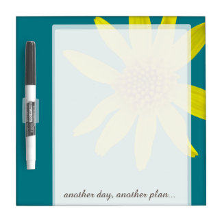 Flower Yellow Arnica any Text on any Color Dry Erase Board