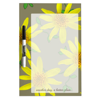 Flower Yellow Arnica any Text on any Color Dry-Erase Board