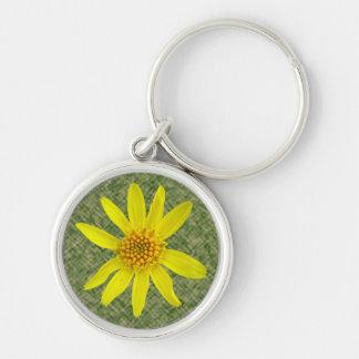 Flower Yellow Arnica Photo Keychain