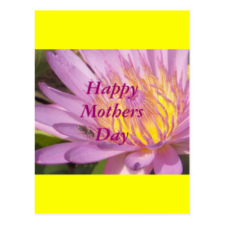 Flower yellow Happy MothersDay Postcard