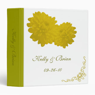 Flower (Yellow) Wedding Album or Planner Binder