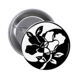 Flower Yen Yang Backpack Pin Button