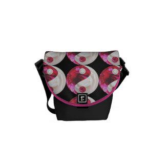 Flower Yin Yang Small Messenger Bag