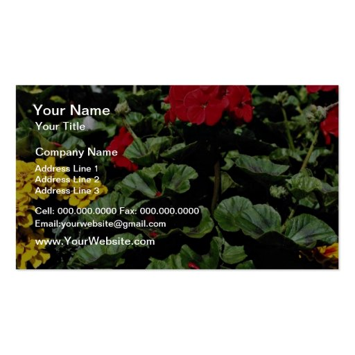 Flowerbed  flowers business card templates