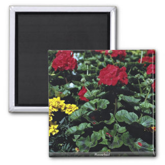 Flowerbed Refrigerator Magnet