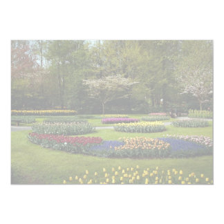 "Flowerbeds at Keukenhof, Netherlands 5"" X 7"" Invitation Card"