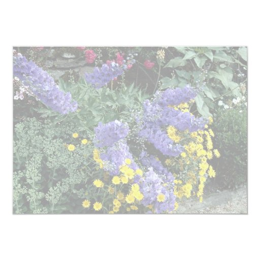 Flowerbeds on the grounds of Hadden Hall, England 5x7 Paper Invitation Card