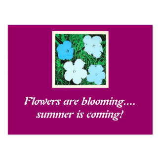 FlowerBlu, flores está floreciendo…. … Postales