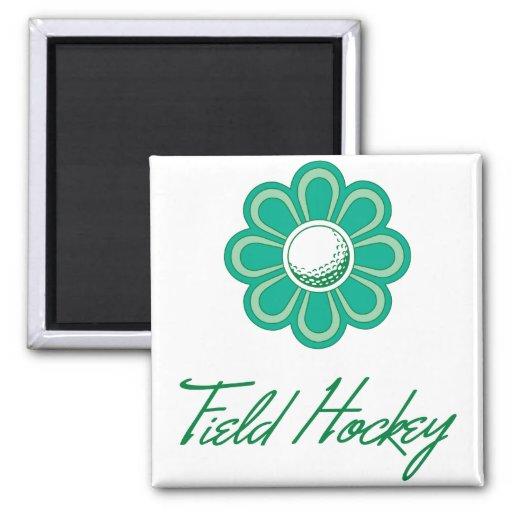 Flowerboom Field Hockey Fridge Magnet