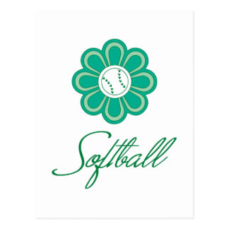 Flowerboom Softball Postcard