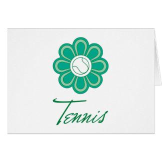 Flowerboom Tennis Card