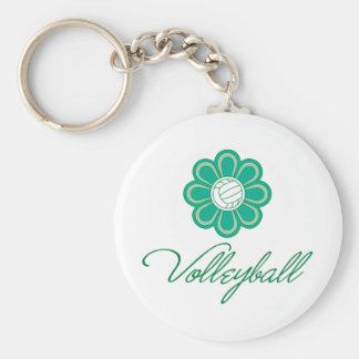 Flowerboom Volleyball Basic Round Button Keychain