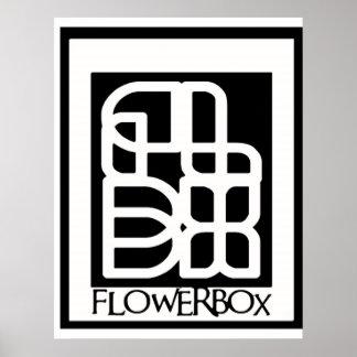 Flowerbox logo poster Design
