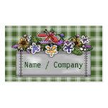 Flowerbox y guinga verde plantillas de tarjeta de negocio