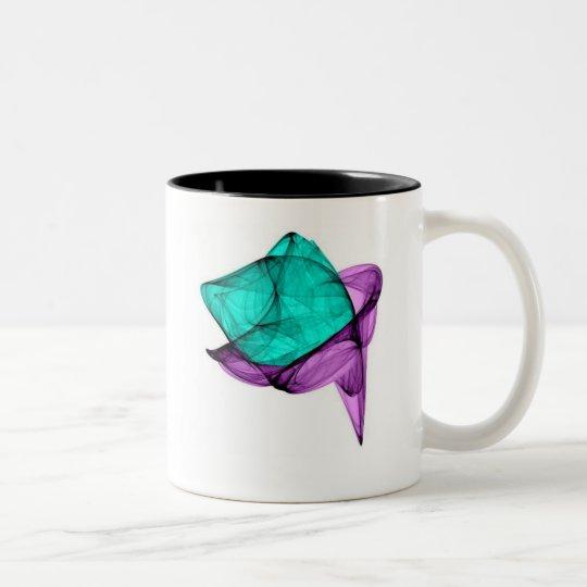 flowerbud invert  Two-Tone coffee mug