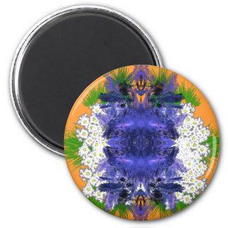 flowerburst 2 inch round magnet