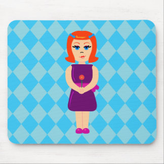 Flowerchild Girl Mouse Pad