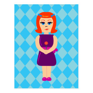 Flowerchild Girl Postcard